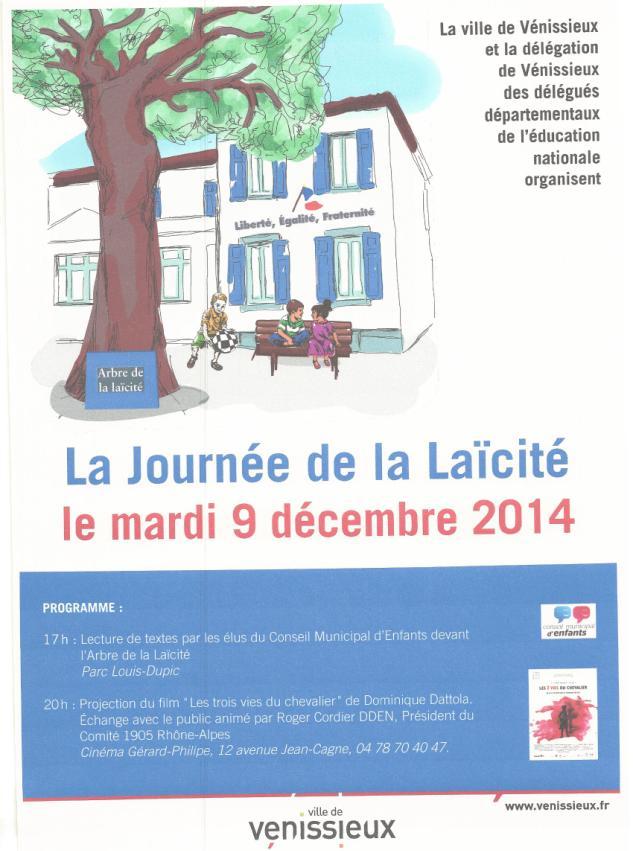 Journée de la Laïcité – 9 décembre 2014 à Vénissieux